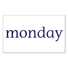 Monday Rectangle Decal