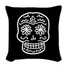 Sugar Skull Woven Throw Pillow
