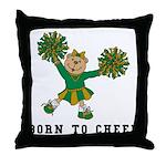Born To Cheer Throw Pillow