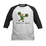 Born To Cheer Kids Baseball Jersey