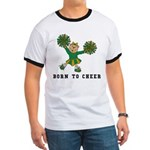 Born To Cheer Ringer T