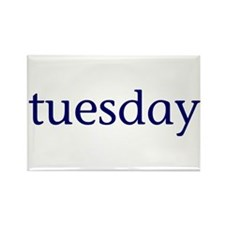Tuesday Rectangle Magnet