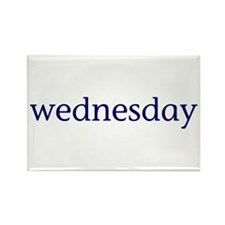 Wednesday Rectangle Magnet