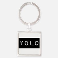 Cute You only live once Square Keychain