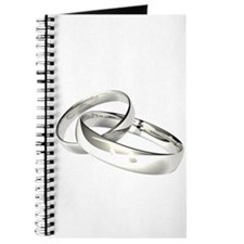 Silver Wedding Bands Save the Date Journal