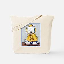 Rainy Day Westie Tote Bag