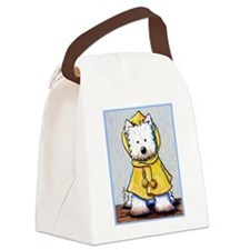 Rainy Day Westie Canvas Lunch Bag