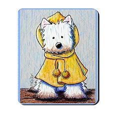 Rainy Day Westie Mousepad
