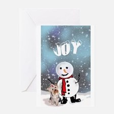 Yorkie Christmas Greeting Card