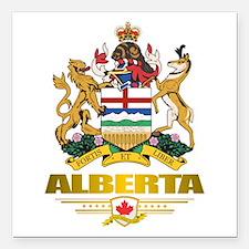 "Alberta COA Square Car Magnet 3"" x 3"""