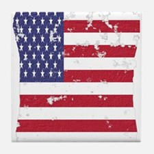 Vintage American Flag Ipad Sleeve Tile Coaster