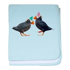 Party Puffins baby blanket