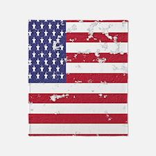 Vintage American Flag Stadium Blanket Throw Blanke