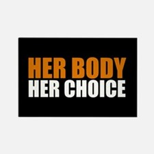 Her Body Her Choice Rectangle Magnet