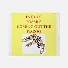 paleontology Throw Blanket