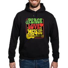 Rasta Peace Love Music Hoody