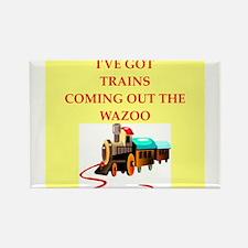 trains Rectangle Magnet