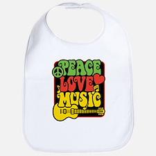 Rasta Peace Love Music Bib