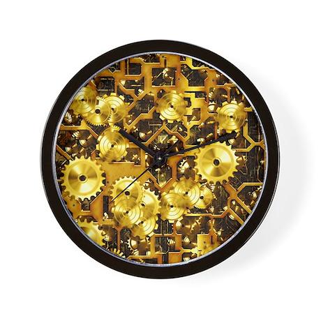 SteamClockwork-Brass Wall Clock