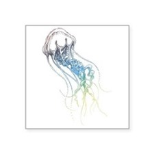 colorful jellyfish drawing Sticker
