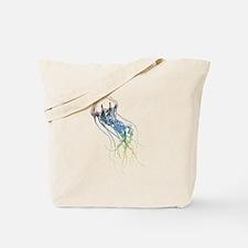 colorful jellyfish drawing Tote Bag