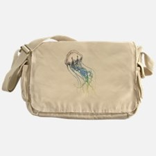 colorful jellyfish drawing Messenger Bag