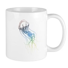 colorful jellyfish drawing Mug