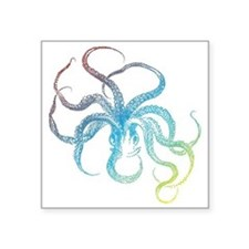 colorful octopus silhouette Sticker