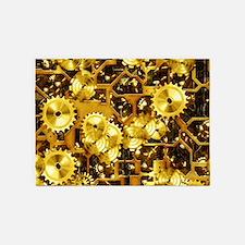 SteamClockwork-Brass 5'x7'Area Rug