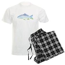 blue and green fish Pajamas