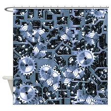 SteamClockwork-Steel Shower Curtain