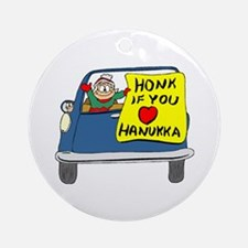 Honk if you love Hanukkah Ornament (Round)