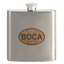 Boca Raton - Oval Design. Flask