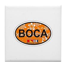 Boca Raton - Oval Design. Tile Coaster