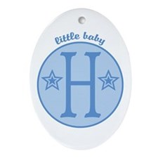 Baby H Oval Ornament