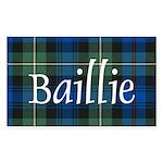 Tartan - Baillie Sticker (Rectangle 50 pk)