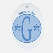 Baby G Oval Ornament