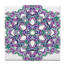 Psychedelic Kaleidoscope Tile Coaster