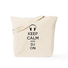 Keep Calm And DJ On Tote Bag