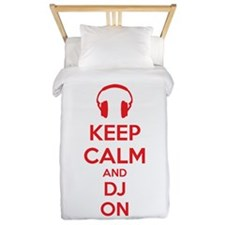 Keep Calm And DJ On Twin Duvet