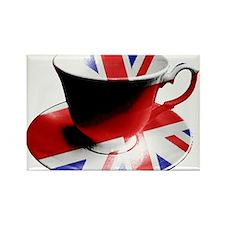 Union Jack Cup of Tea Rectangle Magnet