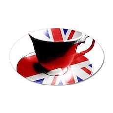 Union Jack Cup of Tea Wall Sticker