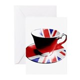 Royal queen tea Greeting Cards (20 Pack)