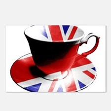Union Jack Cup of Tea Postcards (Package of 8)