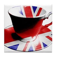 Union Jack Cup of Tea Tile Coaster