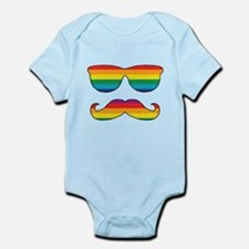 Rainbow Funny Face Infant Bodysuit