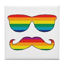 Rainbow Funny Face Tile Coaster