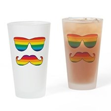 Rainbow Funny Face Drinking Glass