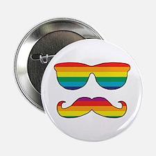 "Rainbow Funny Face 2.25"" Button"