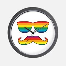 Rainbow Funny Face Wall Clock